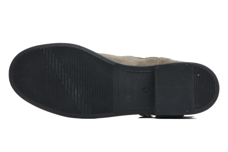 Stiefeletten & Boots Pieces Iza Suede Zipper Boot grün ansicht von oben