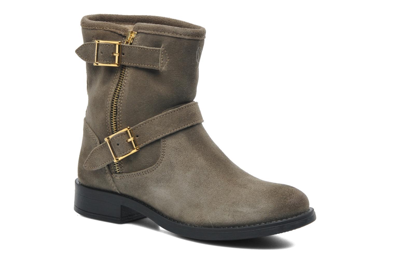 Boots en enkellaarsjes Pieces Iza Suede Zipper Boot Groen detail