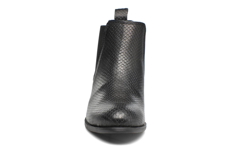Bottines et boots Pieces Izi Leather Boot Noir vue portées chaussures