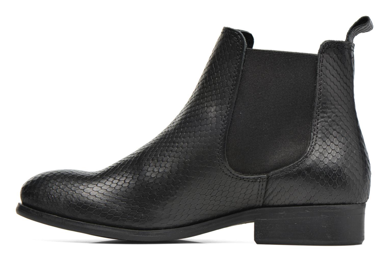 Bottines et boots Pieces Izi Leather Boot Noir vue face