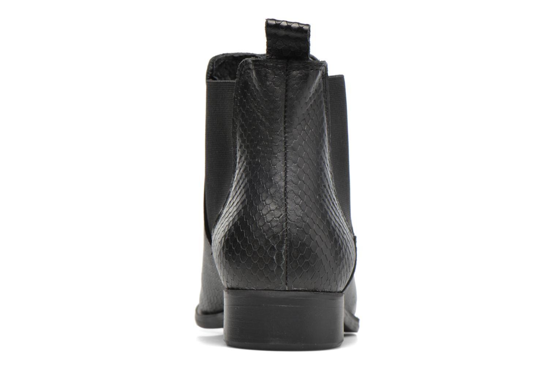 Bottines et boots Pieces Izi Leather Boot Noir vue droite