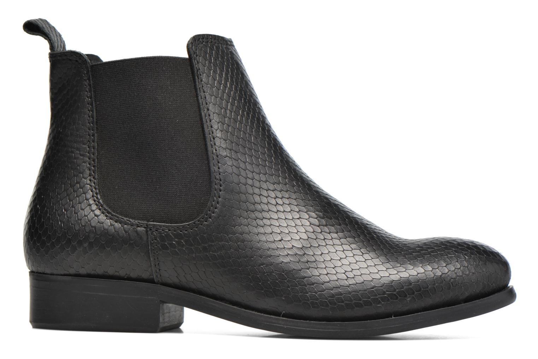 Bottines et boots Pieces Izi Leather Boot Noir vue derrière
