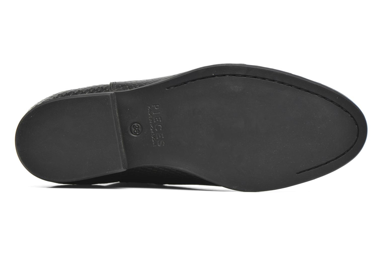 Bottines et boots Pieces Izi Leather Boot Noir vue haut