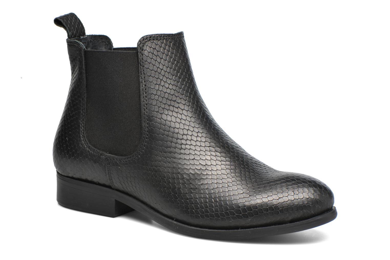 Bottines et boots Pieces Izi Leather Boot Noir vue détail/paire