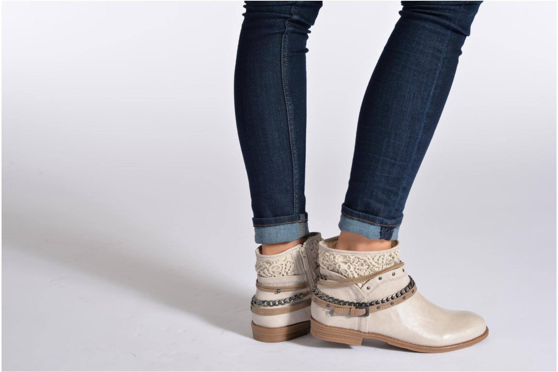Bottines et boots Mustang shoes Amuvi Beige vue bas / vue portée sac