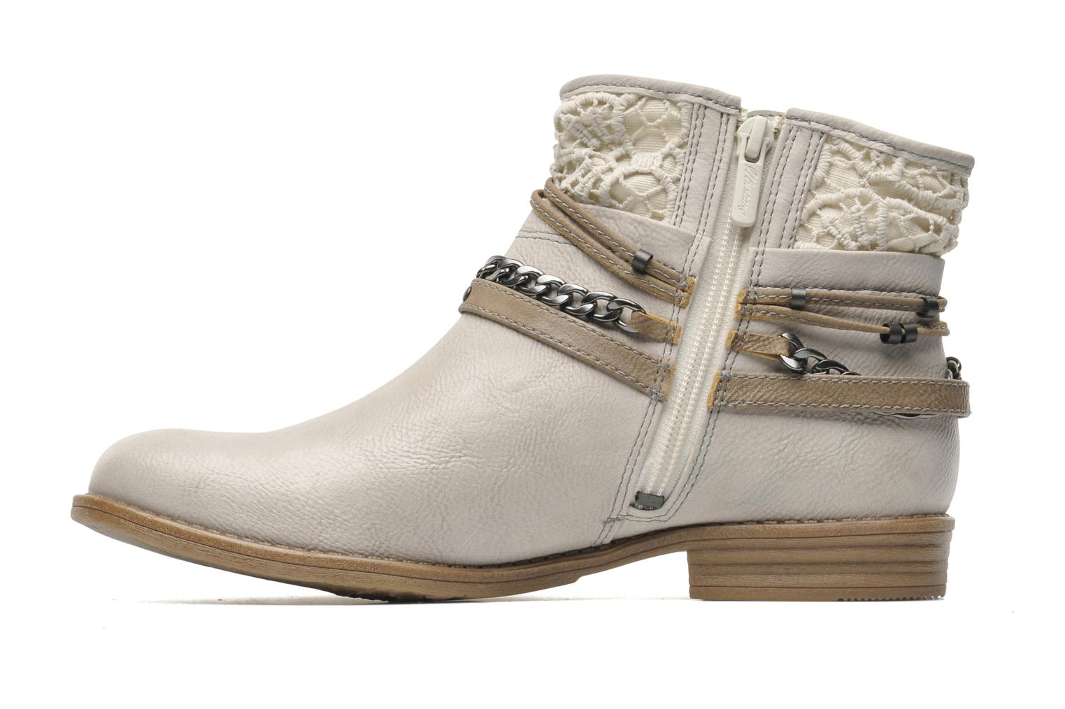 Ankle boots Mustang shoes Amuvi Beige front view