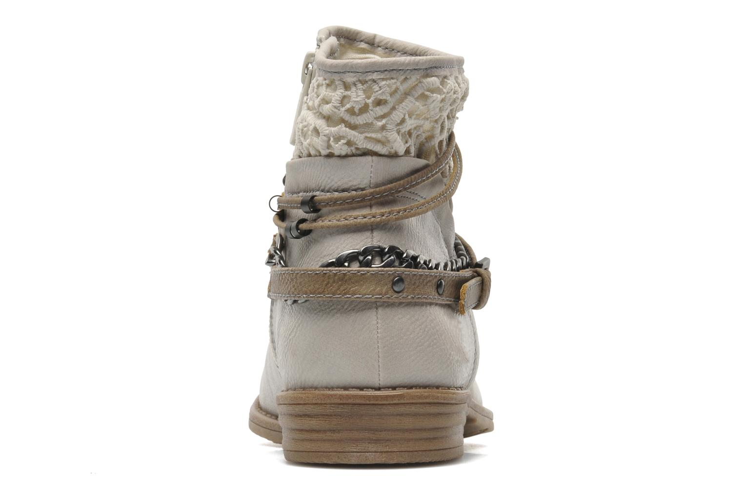 Ankle boots Mustang shoes Amuvi Beige view from the right