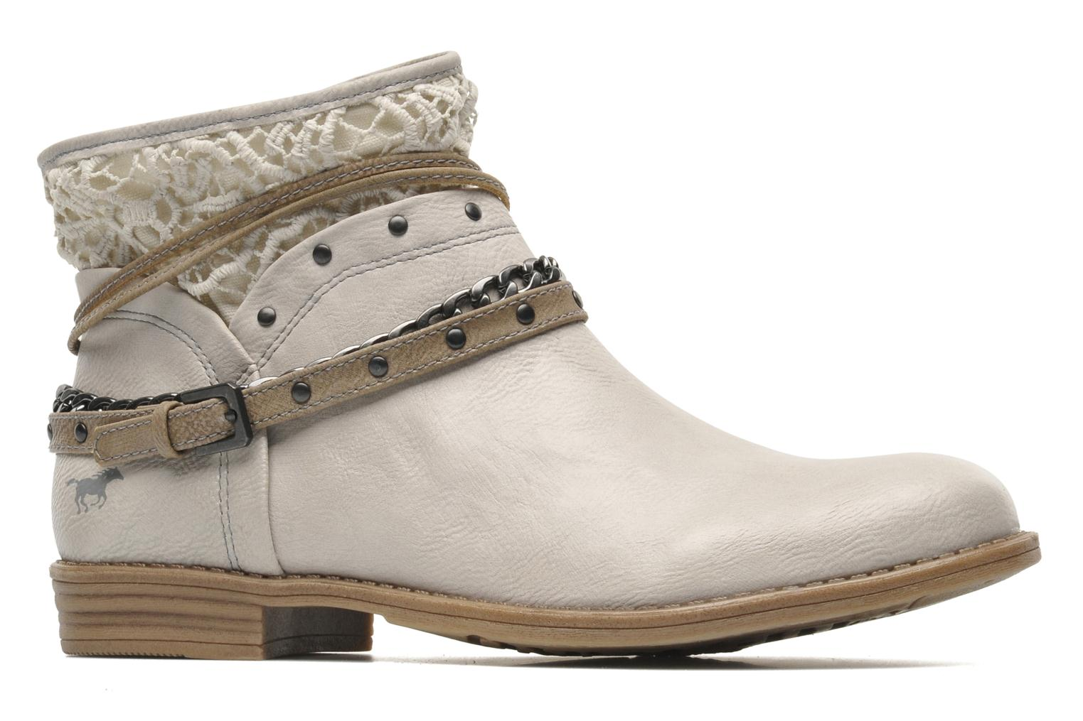 Ankle boots Mustang shoes Amuvi Beige back view