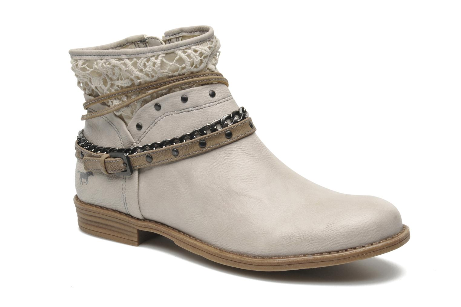 Ankle boots Mustang shoes Amuvi Beige detailed view/ Pair view