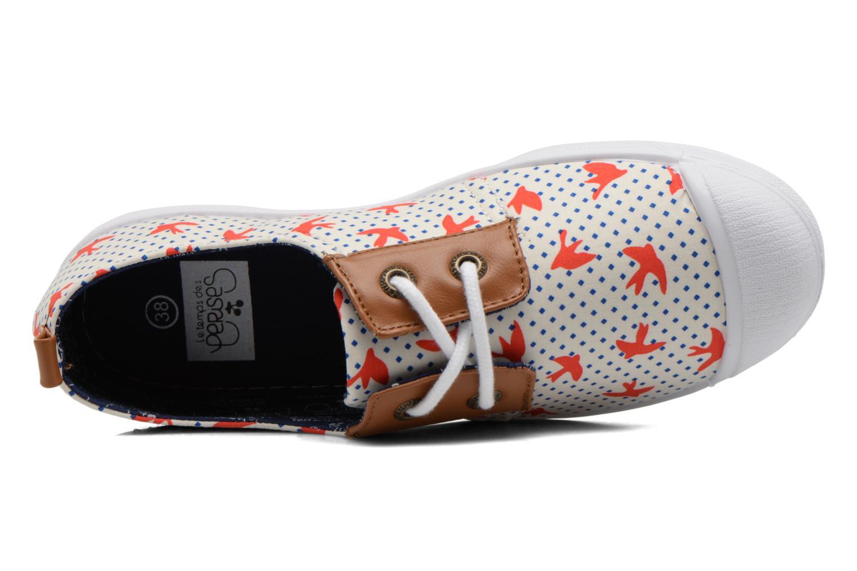 Sneaker Le temps des cerises Basic 02 Fancy mehrfarbig ansicht von links