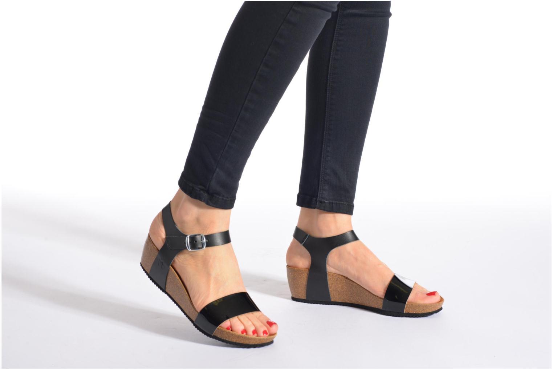 Sandales et nu-pieds Le temps des cerises Astrid Multicolore vue bas / vue portée sac