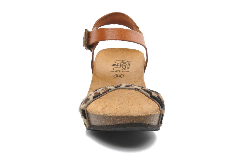 Sandales et nu-pieds Le temps des cerises Astrid Multicolore vue portées chaussures