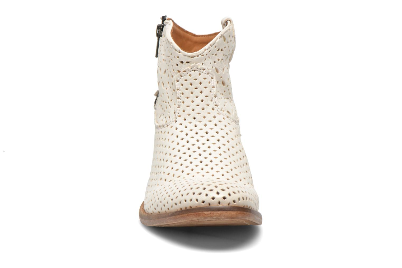 Bottines et boots Catarina Martins MEGAN ZIP BOOT PERF. LEATHER Blanc vue portées chaussures