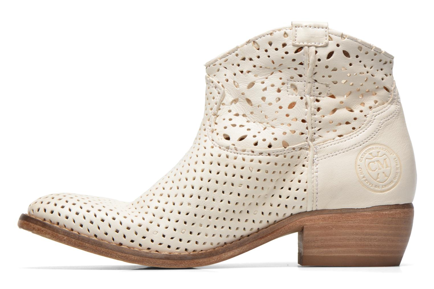 Bottines et boots Catarina Martins MEGAN ZIP BOOT PERF. LEATHER Blanc vue face