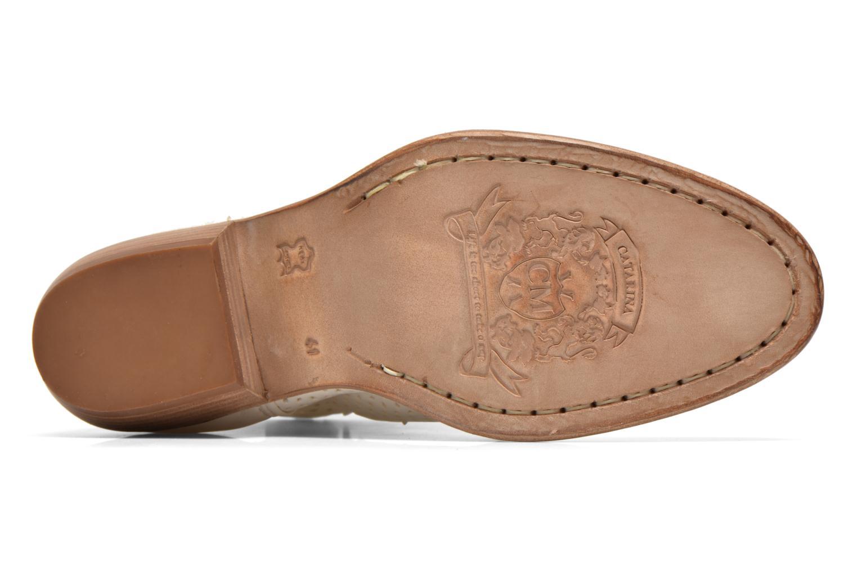 Bottines et boots Catarina Martins MEGAN ZIP BOOT PERF. LEATHER Blanc vue haut