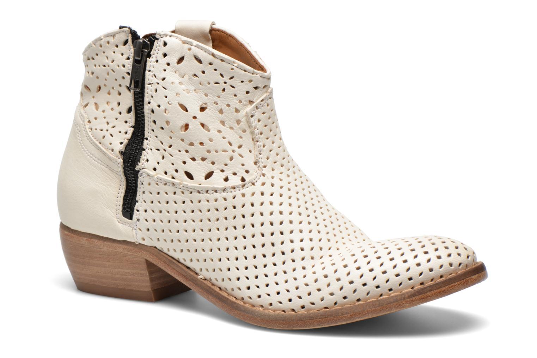 Bottines et boots Catarina Martins MEGAN ZIP BOOT PERF. LEATHER Blanc vue détail/paire