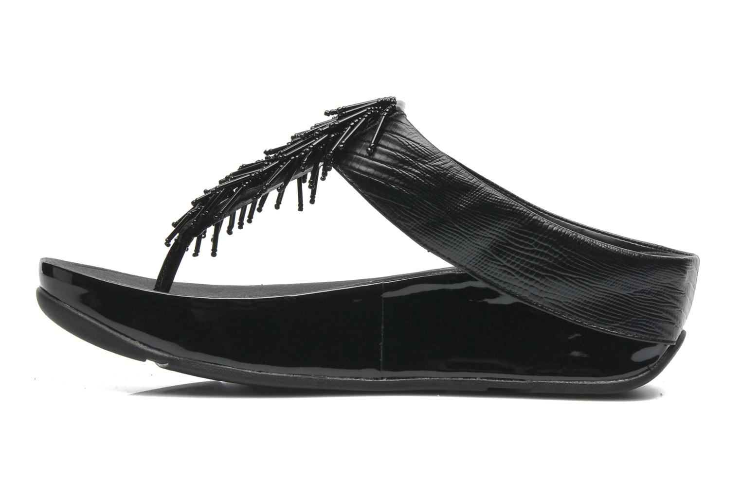 Tongs FitFlop Chacha Noir vue face