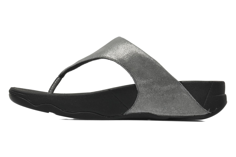 Zehensandalen FitFlop Lulu Shimmersuede silber ansicht von vorne