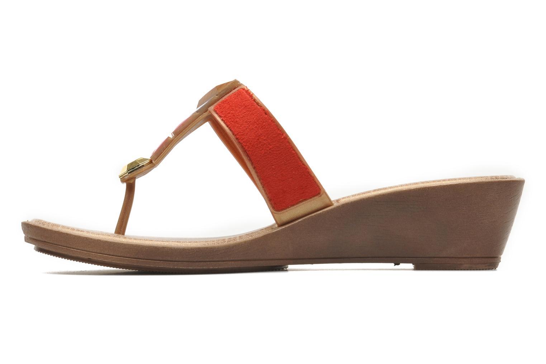 Tesouros Wedge Brown Gold Red