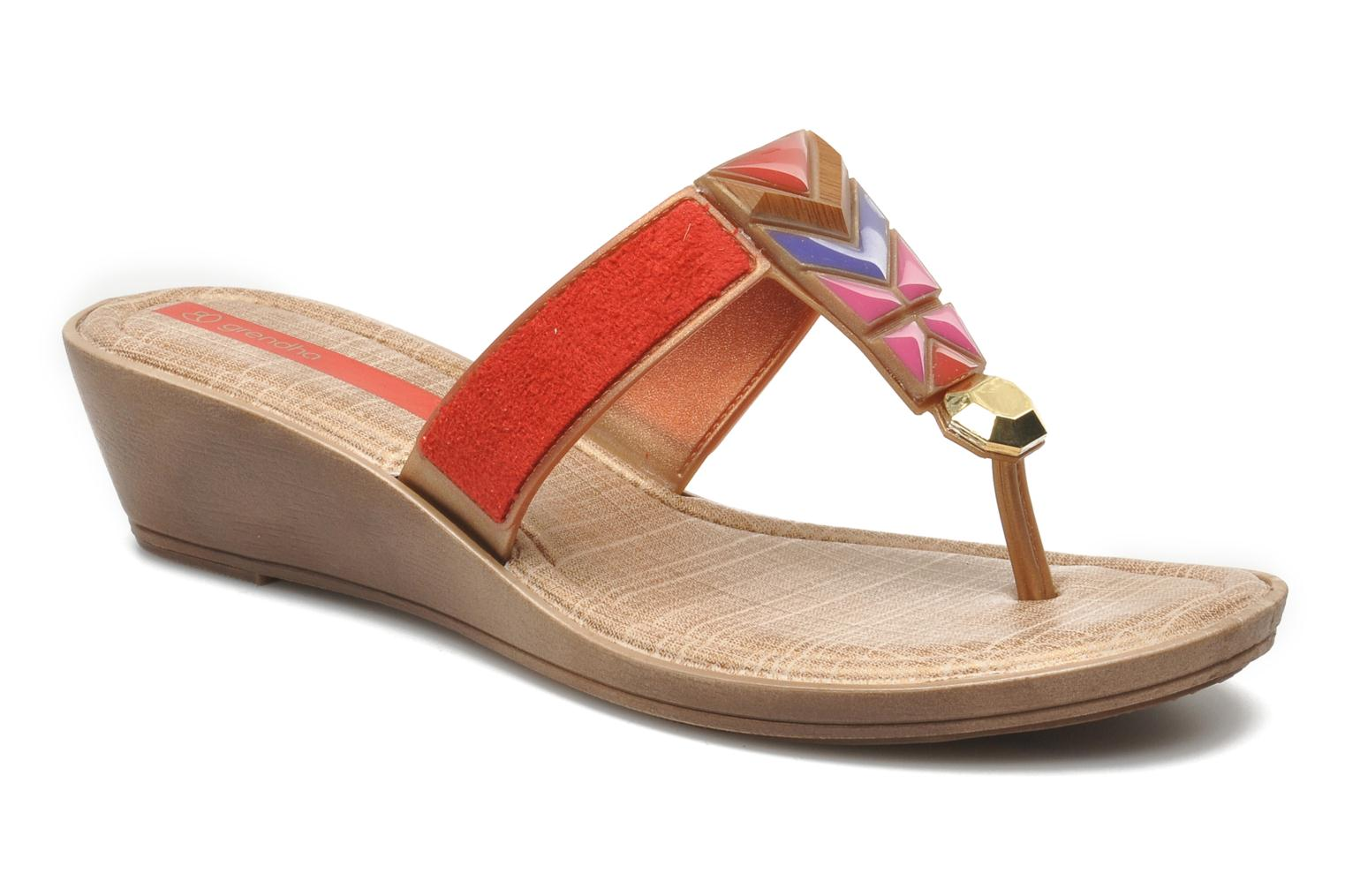 Tesouros Wedge Brown Gold Red