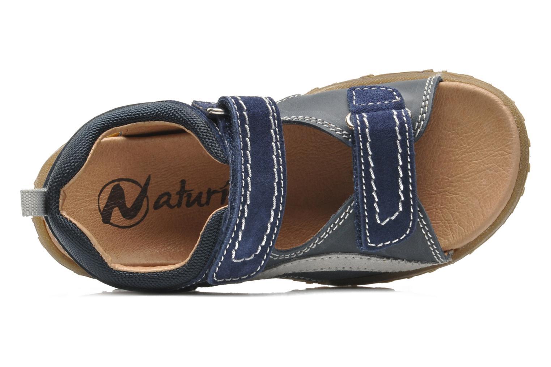 Sandales et nu-pieds Naturino Mauro 9101 Bleu vue gauche
