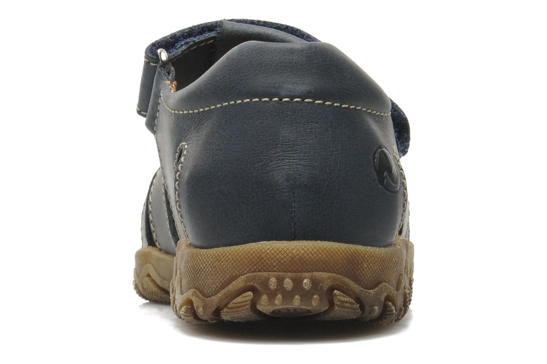 Sandales et nu-pieds Naturino Luca Bleu vue droite