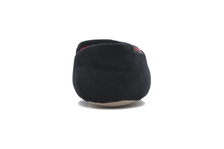 Charentaise Velours Brodée Noir