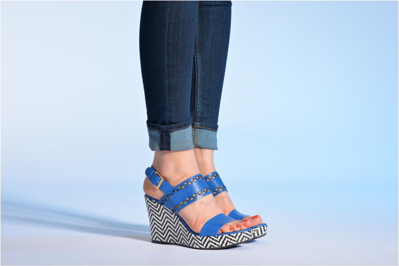 Sandalen Made by SARENZA Bamako #6 blau ansicht von unten / tasche getragen