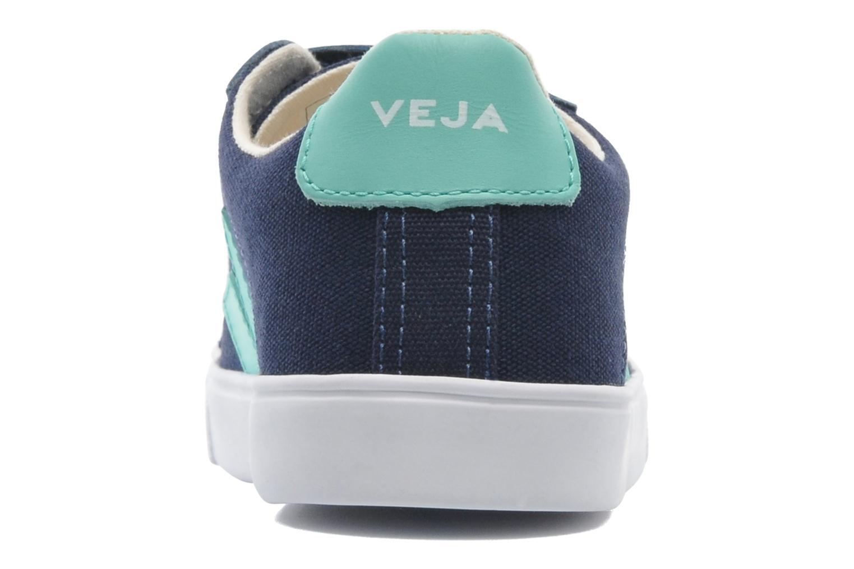 Baskets Veja Esplar Velcro Junior Bleu vue droite