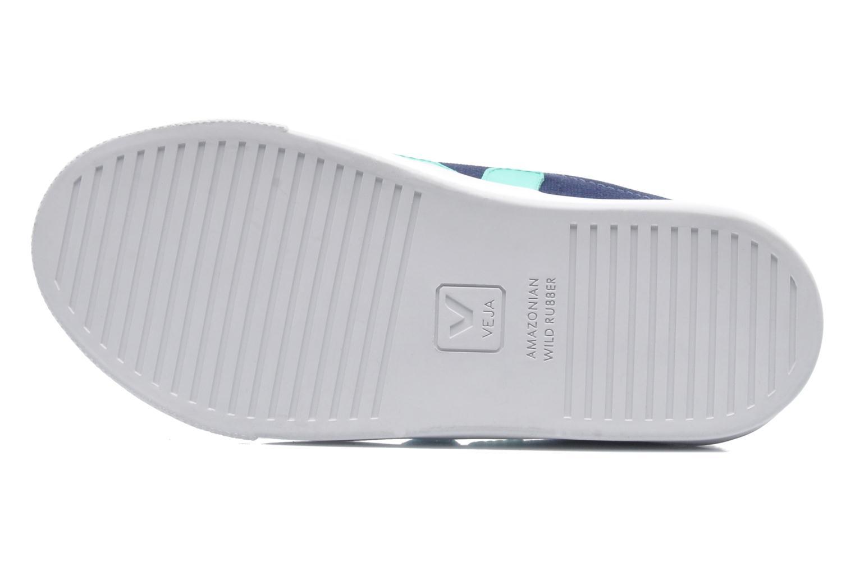 Baskets Veja Esplar Velcro Junior Bleu vue haut