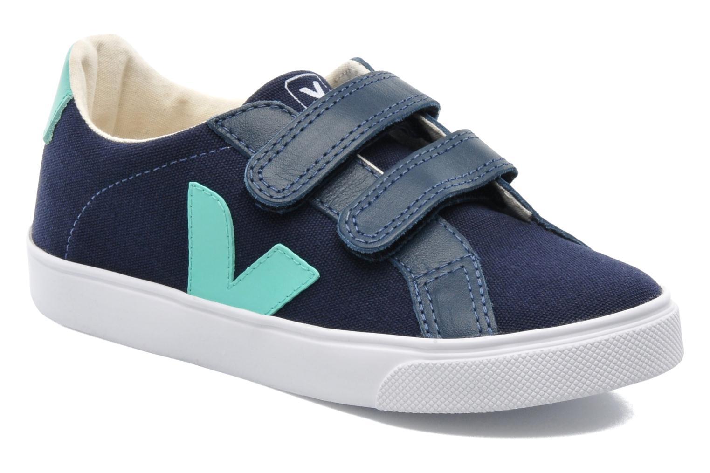 Baskets Veja Esplar Velcro Junior Bleu vue détail/paire