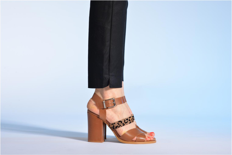 Sandales et nu-pieds Made by SARENZA Guimauve #7 Marron vue bas / vue portée sac