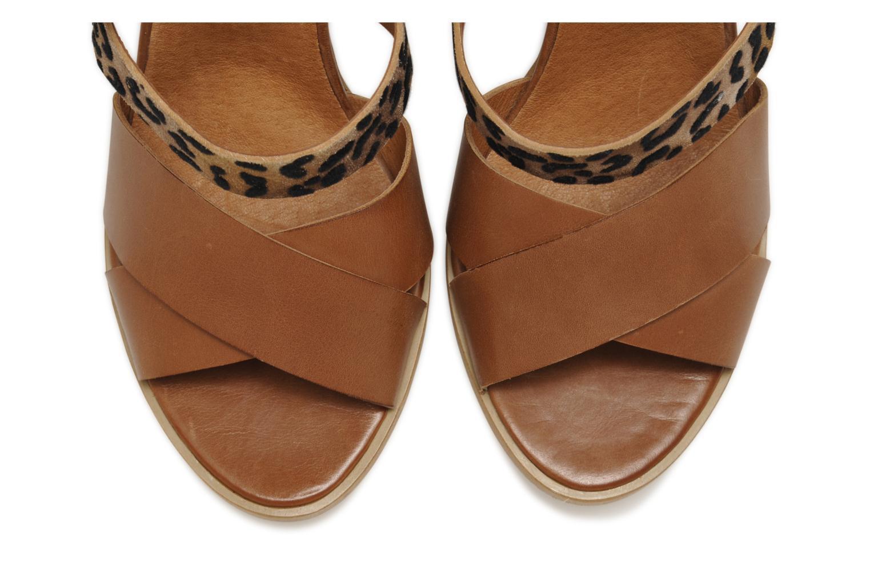 Sandali e scarpe aperte Made by SARENZA Guimauve #7 Marrone modello indossato