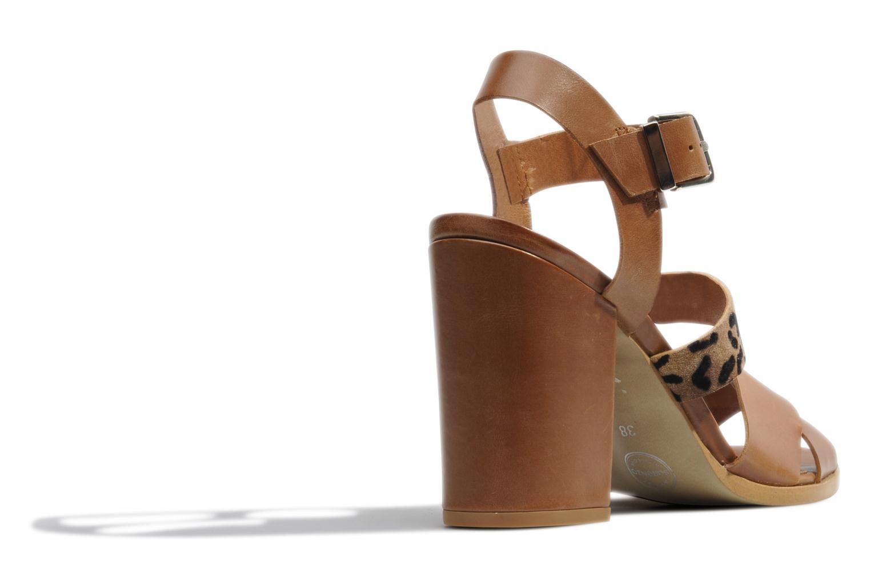 Sandales et nu-pieds Made by SARENZA Guimauve #7 Marron vue face