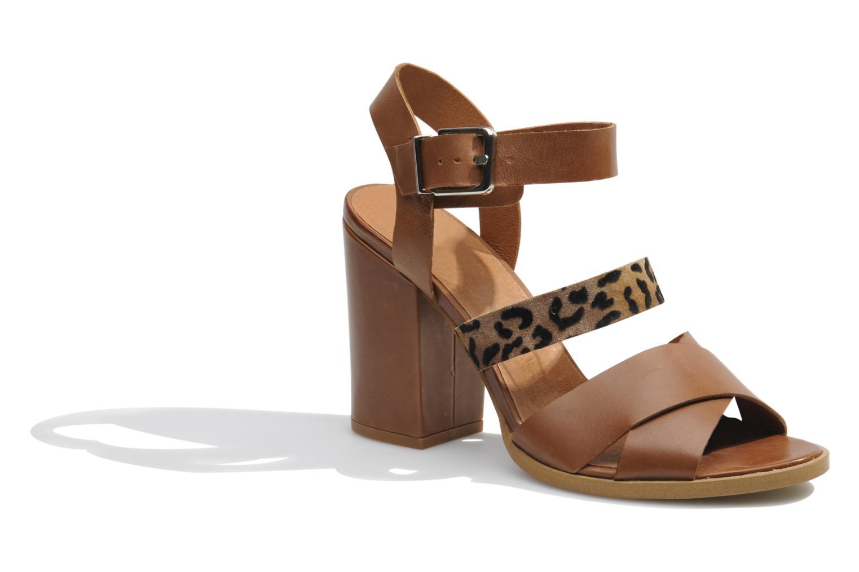 Sandales et nu-pieds Made by SARENZA Guimauve #7 Marron vue droite