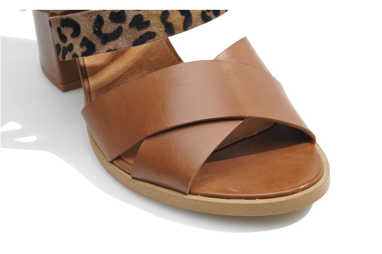 Sandales et nu-pieds Made by SARENZA Guimauve #7 Marron vue haut