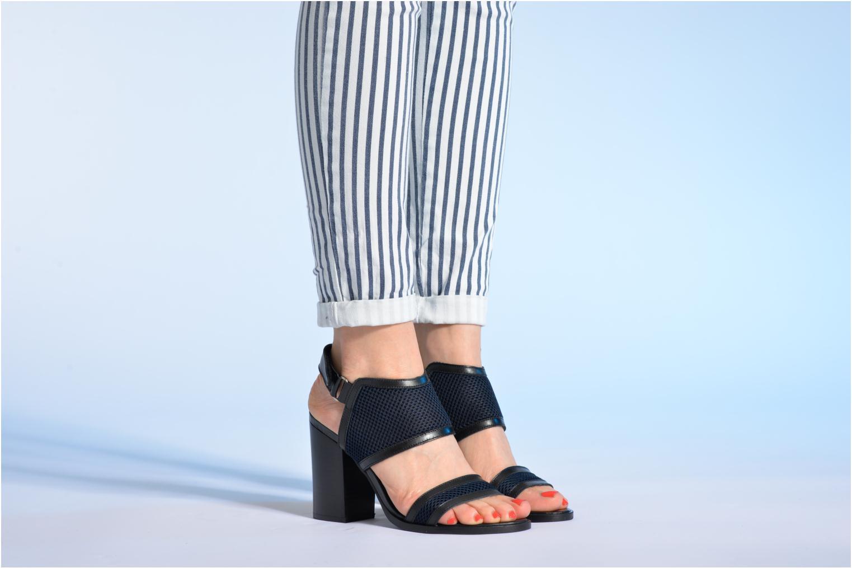 Sandalen Made by SARENZA Pool Party #1 blau ansicht von unten / tasche getragen