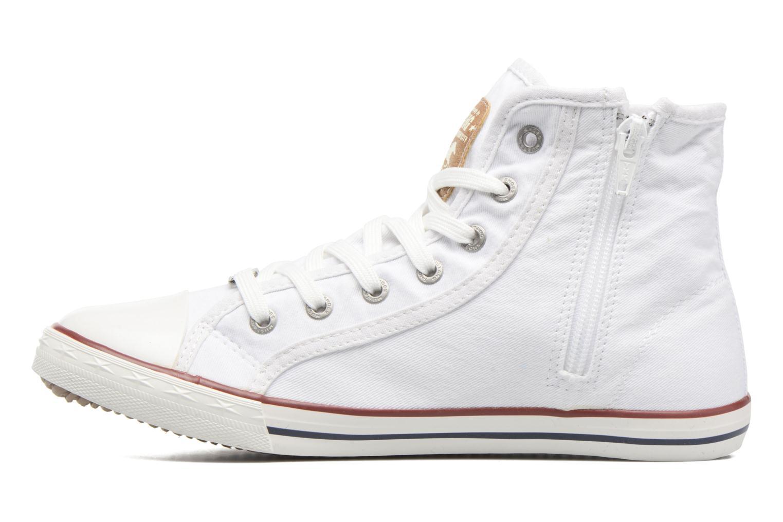 Sneaker Mustang shoes Mavon weiß ansicht von vorne