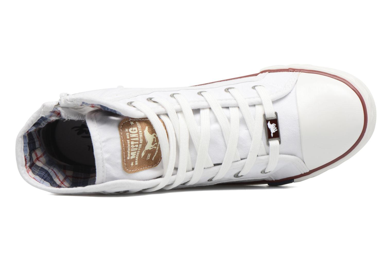 Sneaker Mustang shoes Mavon weiß ansicht von links