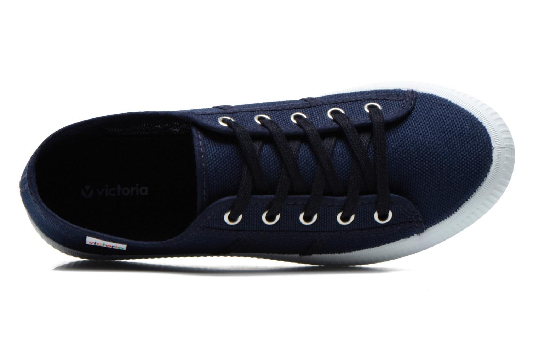 Sneaker Victoria Blucher Lona Gruesa blau ansicht von links