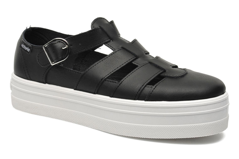 Venta de liquidación de temporada Victoria Sandalia Plataforma (Negro) - Sandalias en Más cómodo
