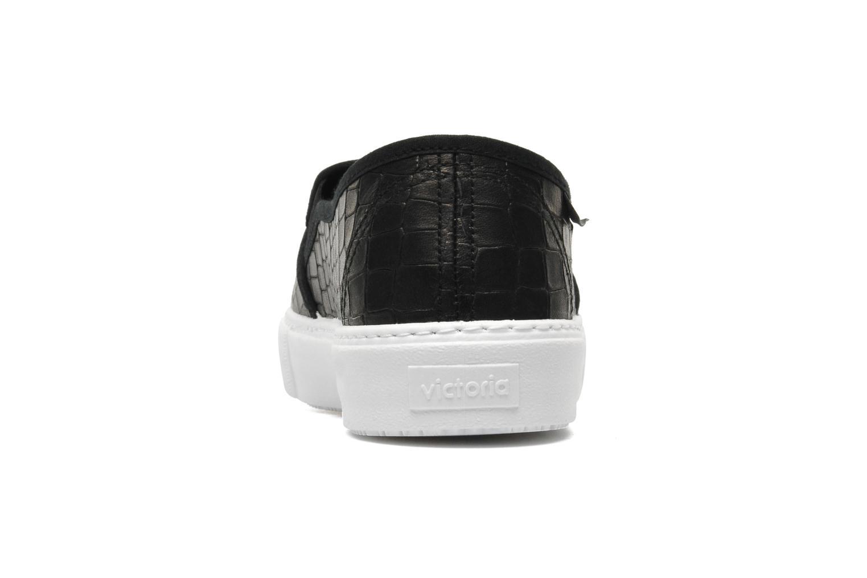 Sneakers Victoria Slip-on Grabada Nero immagine destra