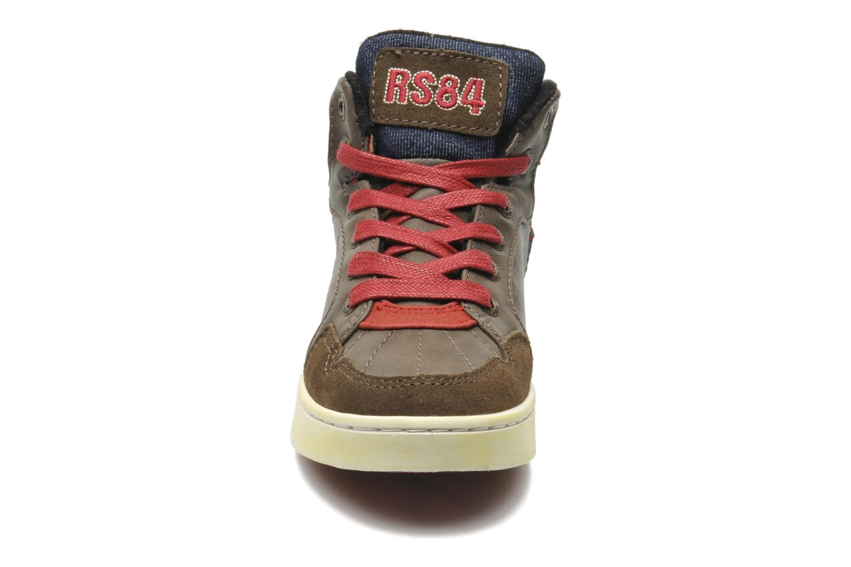 Baskets Redskins Zigzag Kid Marron vue portées chaussures