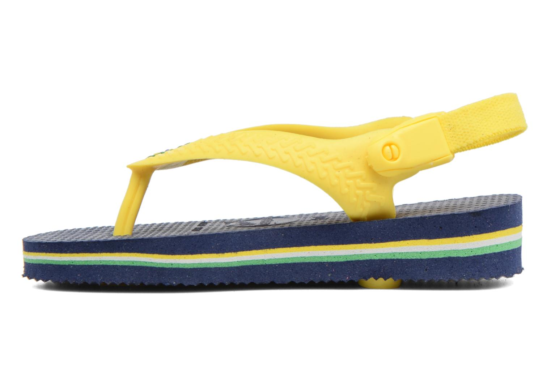 Chanclas Havaianas Baby Brazil Logo Azul vista del modelo