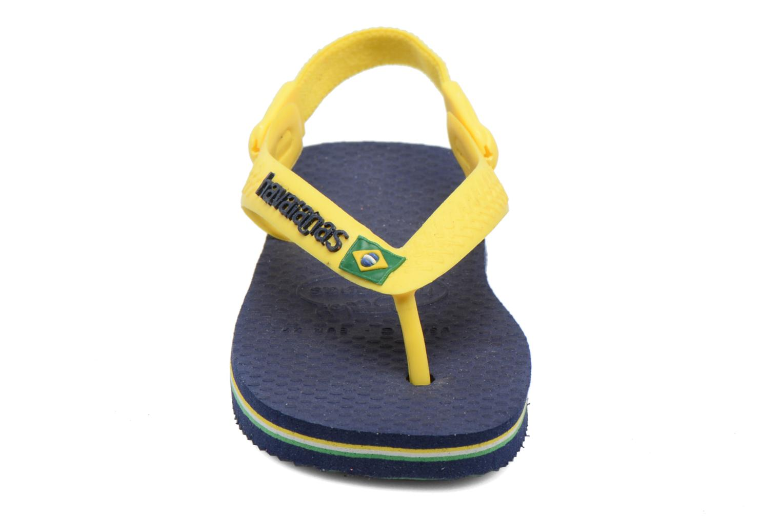 Flip flops Havaianas Baby Brazil Logo Blue front view