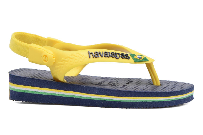 Flip flops Havaianas Baby Brazil Logo Blue back view
