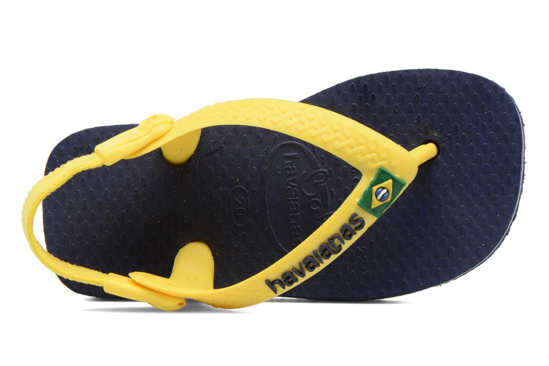 Infradito Havaianas Baby Brazil Logo Azzurro immagine sinistra