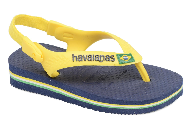 Flip flops Havaianas Baby Brazil Logo Blue detailed view/ Pair view