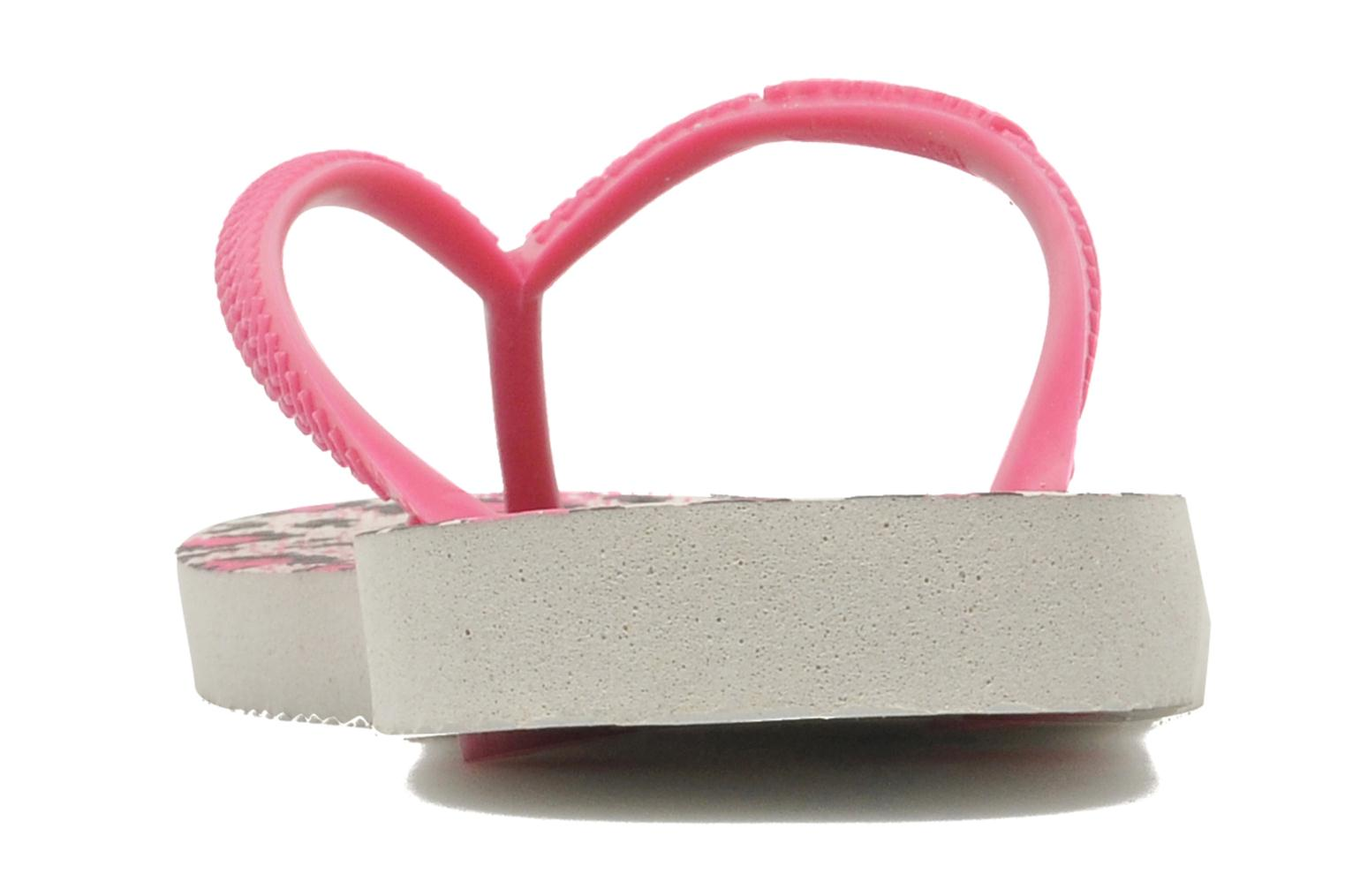 Tongs Havaianas Kids Slim Animals Rose vue droite