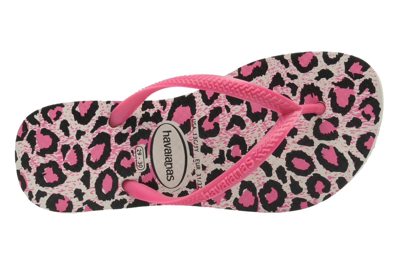 Tongs Havaianas Kids Slim Animals Rose vue gauche